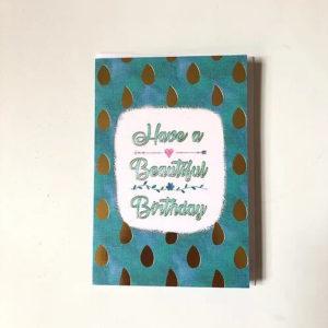 beautiful birthday gift card