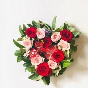 heart design flowers arrangement ivanhoe east