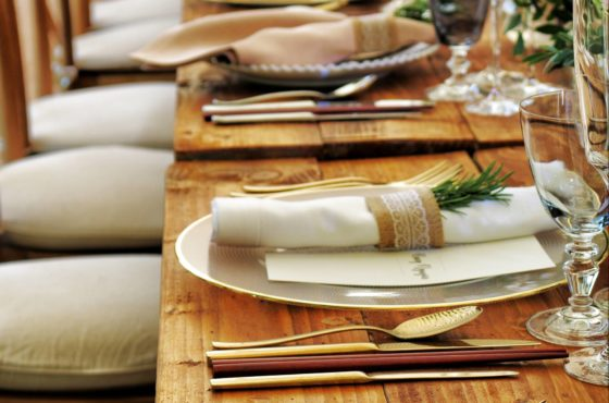 close-up-photo-of-dinnerware-set-on-top-of-table-with-glass