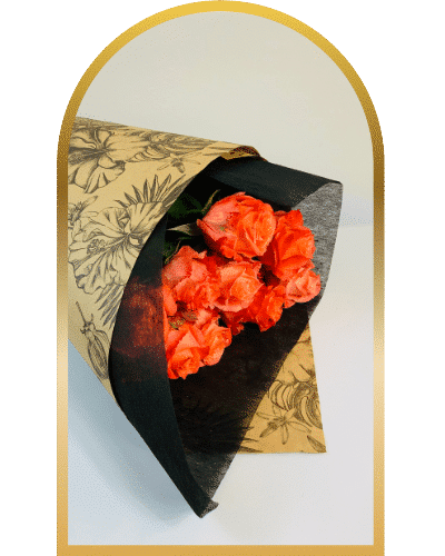 bunch of orange roses for delivery in melbourne