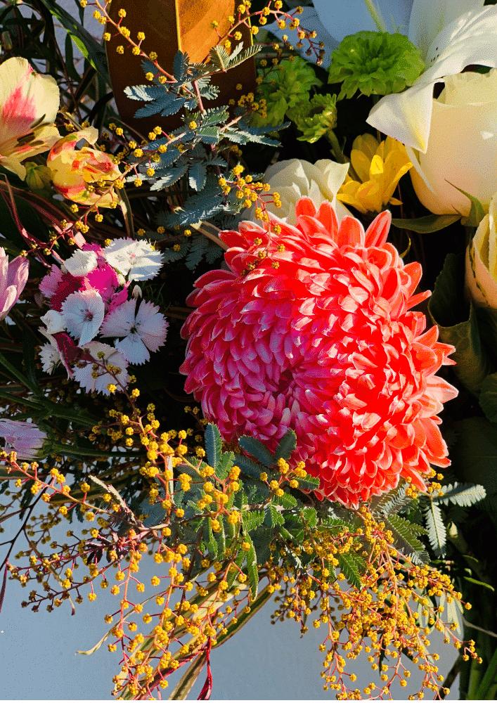 parisian bouquet close up